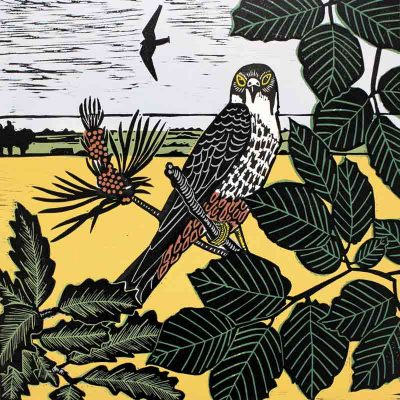 Hobbies at ken hill linocut print by kate heiss