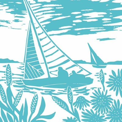 brancaster sales linocut print by kate heiss