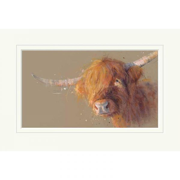 Mounted limited edition print 'Big Softy' by Nicky Litchfield