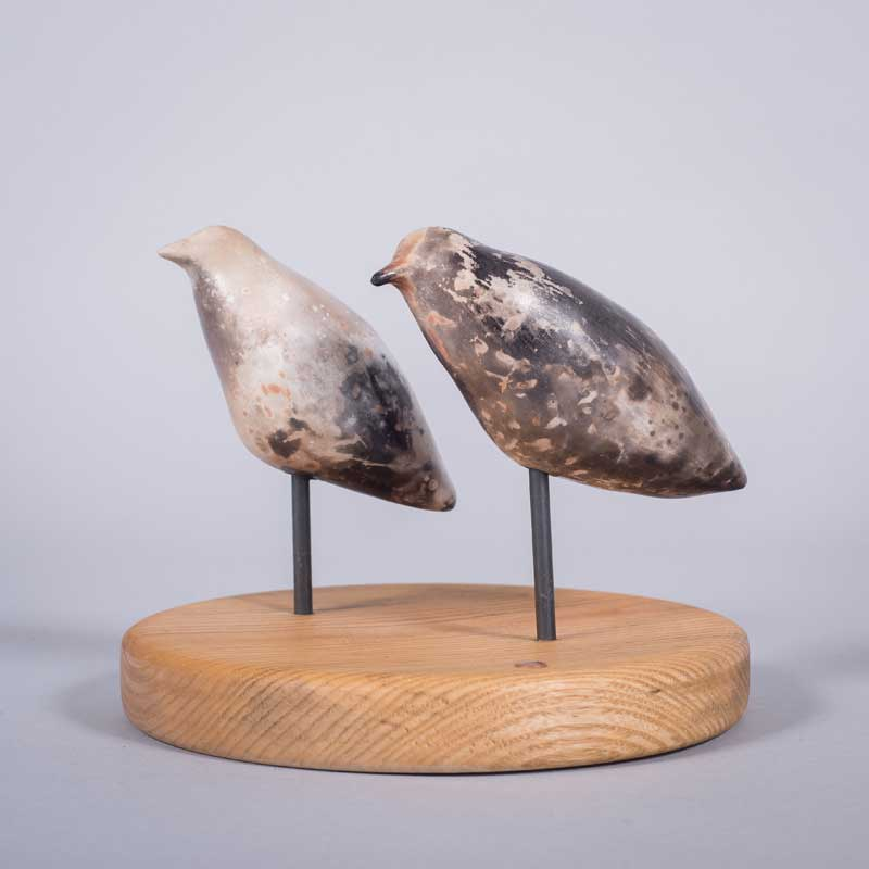 Sculpture of two birds by Carol Pask
