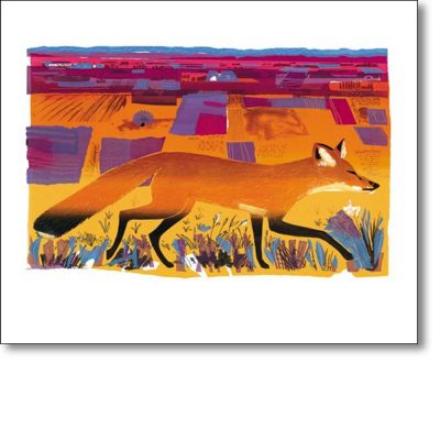 Greeting card of 'Fen Fox II' by Carry Akroyd