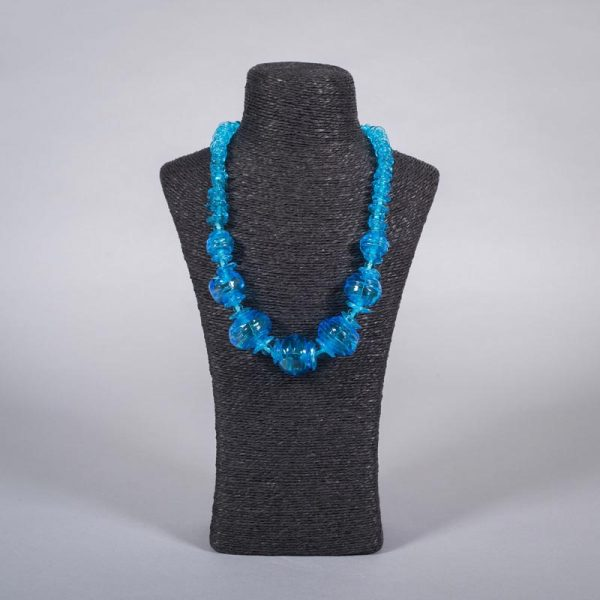 Glass bead necklace 'Aqua' by Clare Gaylard