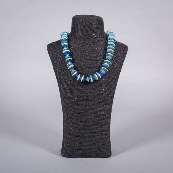 Glass bead necklace 'Estuary' by Clare Gaylard