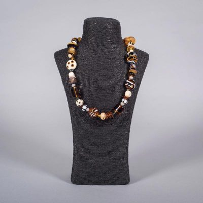 Glass bead necklace 'Nomad' by Clare Gaylard