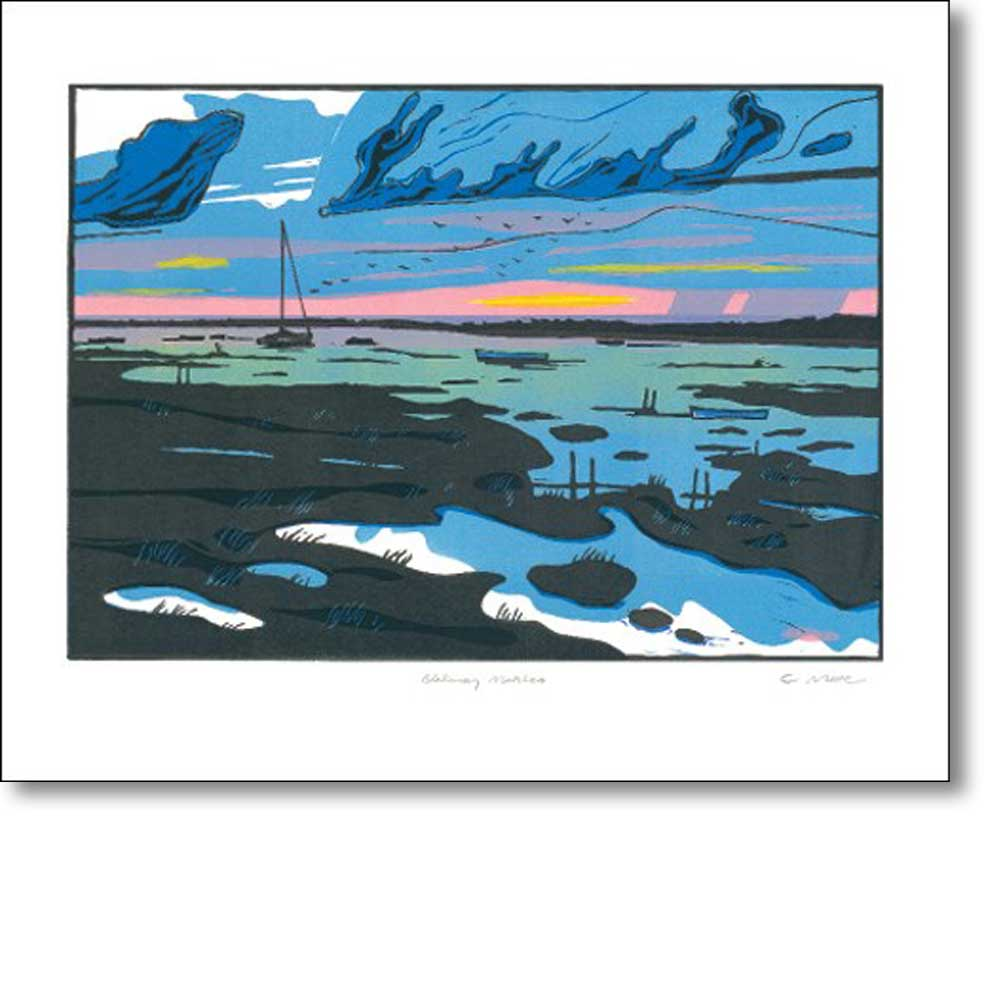 Greeting card of 'Blakeney Marshes' by Colin Moore