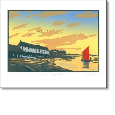Greeting card of 'Burnham Overy Staithe' by Colin Moore