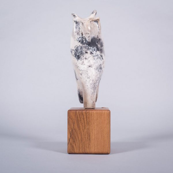 Ceramic sculpture of 'Watchful Eye II' by Carol Pask, alternative view 1
