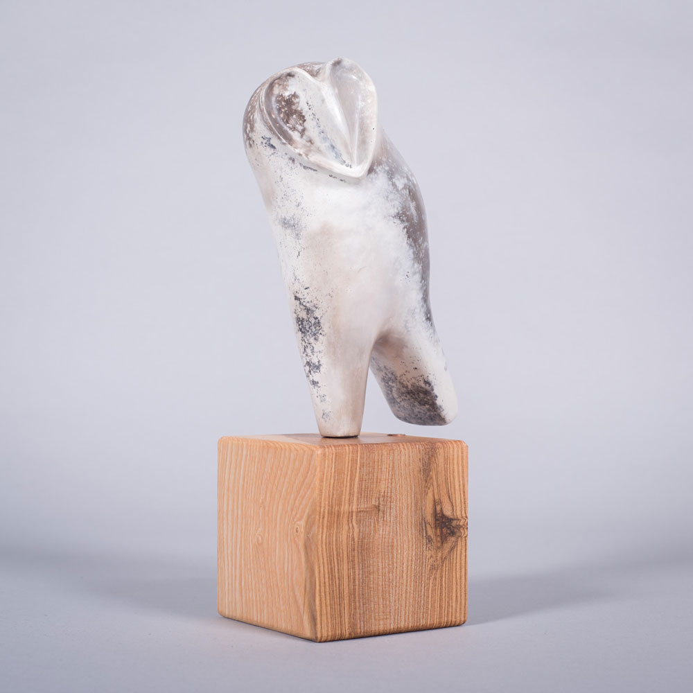 Ceramic sculpture of 'Owl I' by Carol Pask