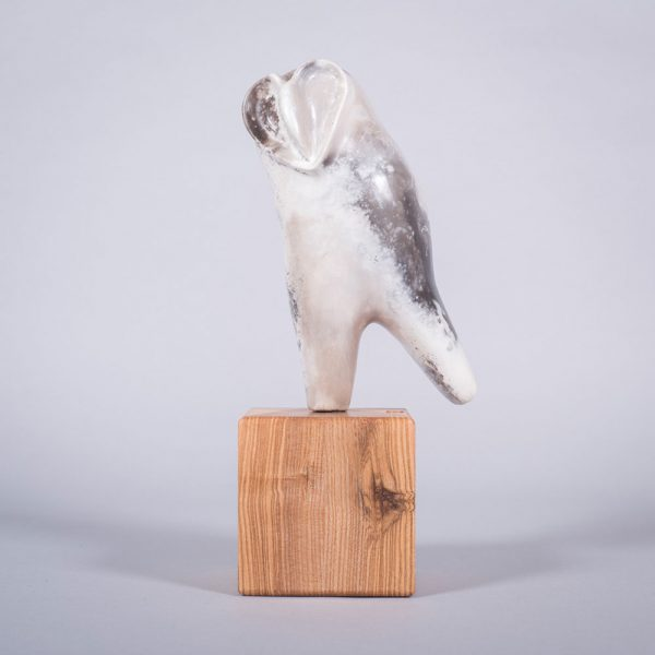 Ceramic sculpture of 'Owl I' by Carol Pask, alternative view 1
