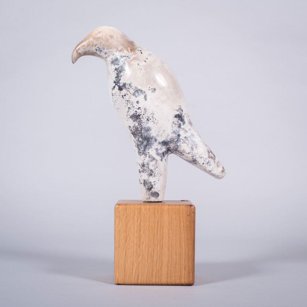 Ceramic sculpture of 'The Hunter' by Carol Pask
