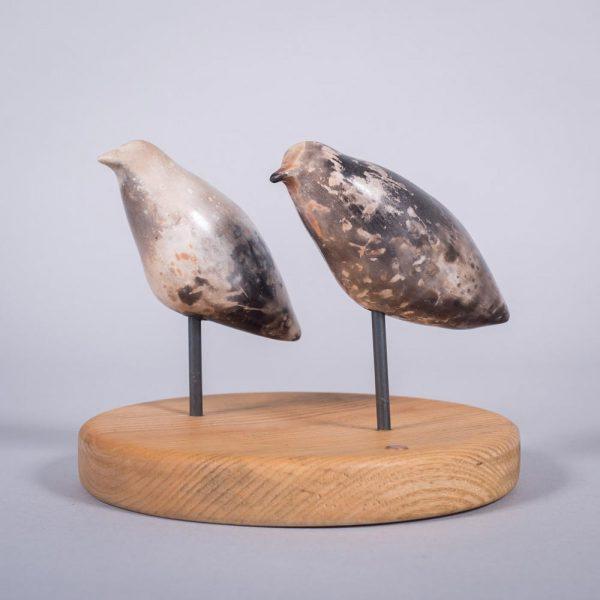 Ceramic sculpture of 'Duet II' by Carol Pask, alternative view 2
