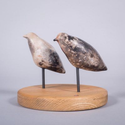 Ceramic sculpture of 'Duet II' by Carol Pask