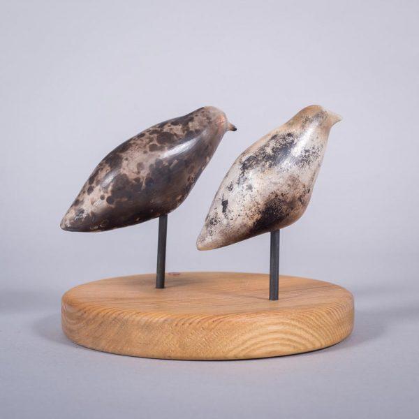 Ceramic sculpture of 'Duet II' by Carol Pask, alternative view 1