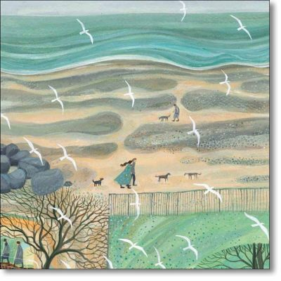 Greeting card of 'Strollers' by Dee Nickerson
