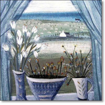 Greeting card of 'The Window' by Hannah Hann