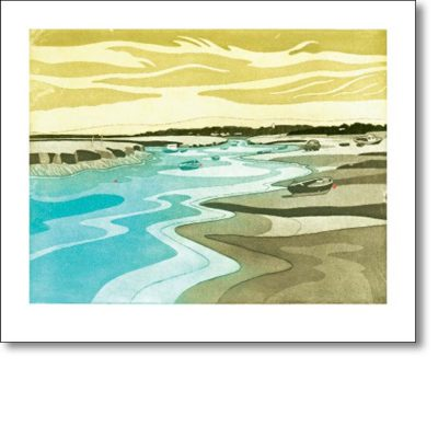 Greeting card of 'Morston Creek' by John Brusdon