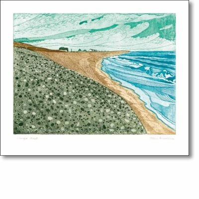 Greeting card of 'Shingle Street' by John Brunsdon