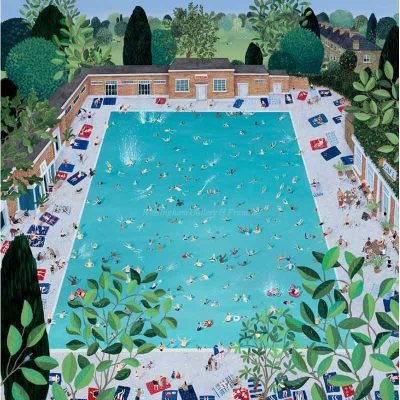 Limited edition print 'Brockwell Lido' by Jenni Murphy