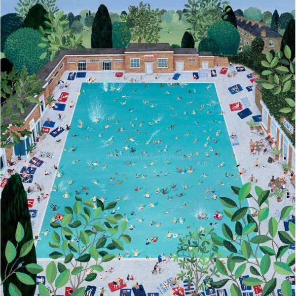 Limited edition print 'Brockwell Lido' by Jenni Murphy