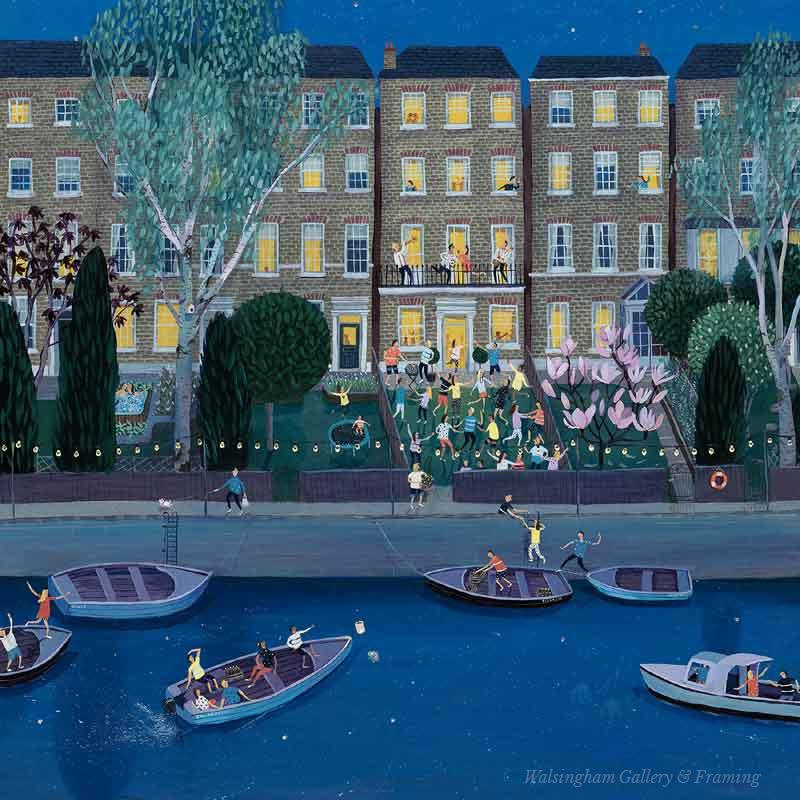 Limited edition print 'Party in the terrace' by Jenni Murphy