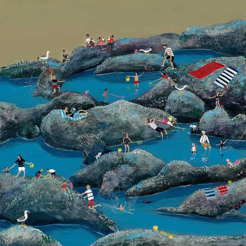 Limited edition print 'Rock Pools' by Jenni Murphy
