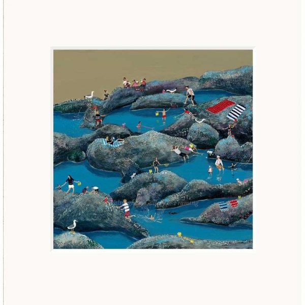Mounted limited edition print 'Rock Rools' by Jenni Murphy