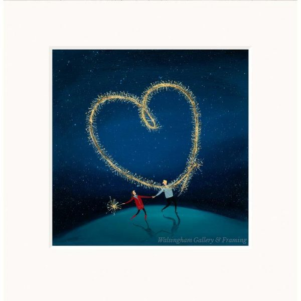 Mounted limited edition print 'Sparkly Love' by Jenni Murphy