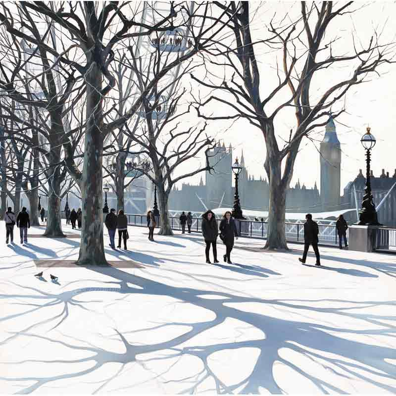 Limited edition print 'South Bank' by Jo Quigley