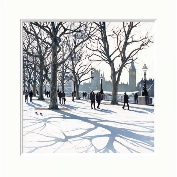 Mounted limited edition print 'South Bank' by Jo Quigley
