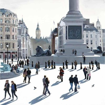 Limited edition print 'Trafalgar Square' by Jo Quigley