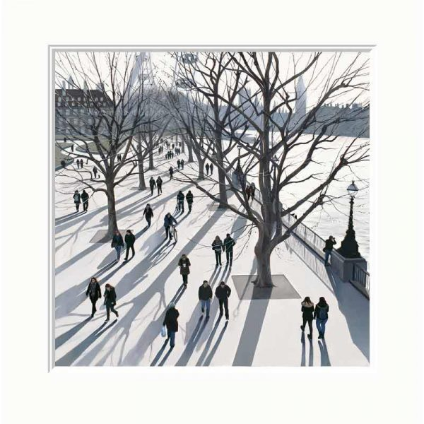 Mounted limited edition print 'Winter Light' by Jo Quigley