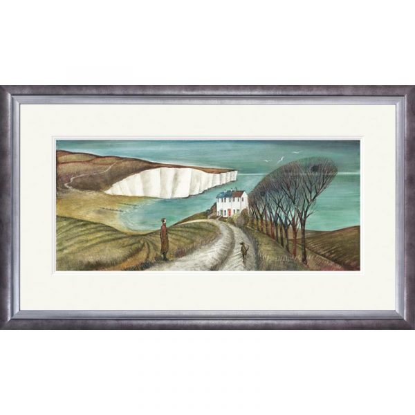 Framed limited edition print 'Cuckmere Haven' by Joe Ramm