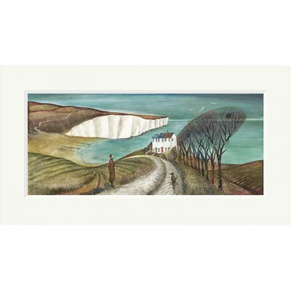 Mounted limited edition print 'Cuckmere Haven' by Joe Ramm