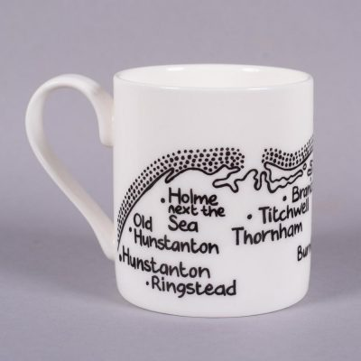 Bone china mug 'Hunstanton to Holkham' by Magi-C