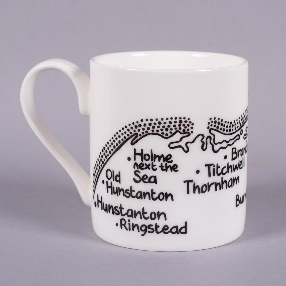 Bone china mug 'Hunstanton to Holkham' by Magi-C