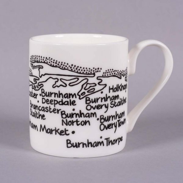 Bone china mug 'Hunstanton to Holkham' by Magi-C, view 2