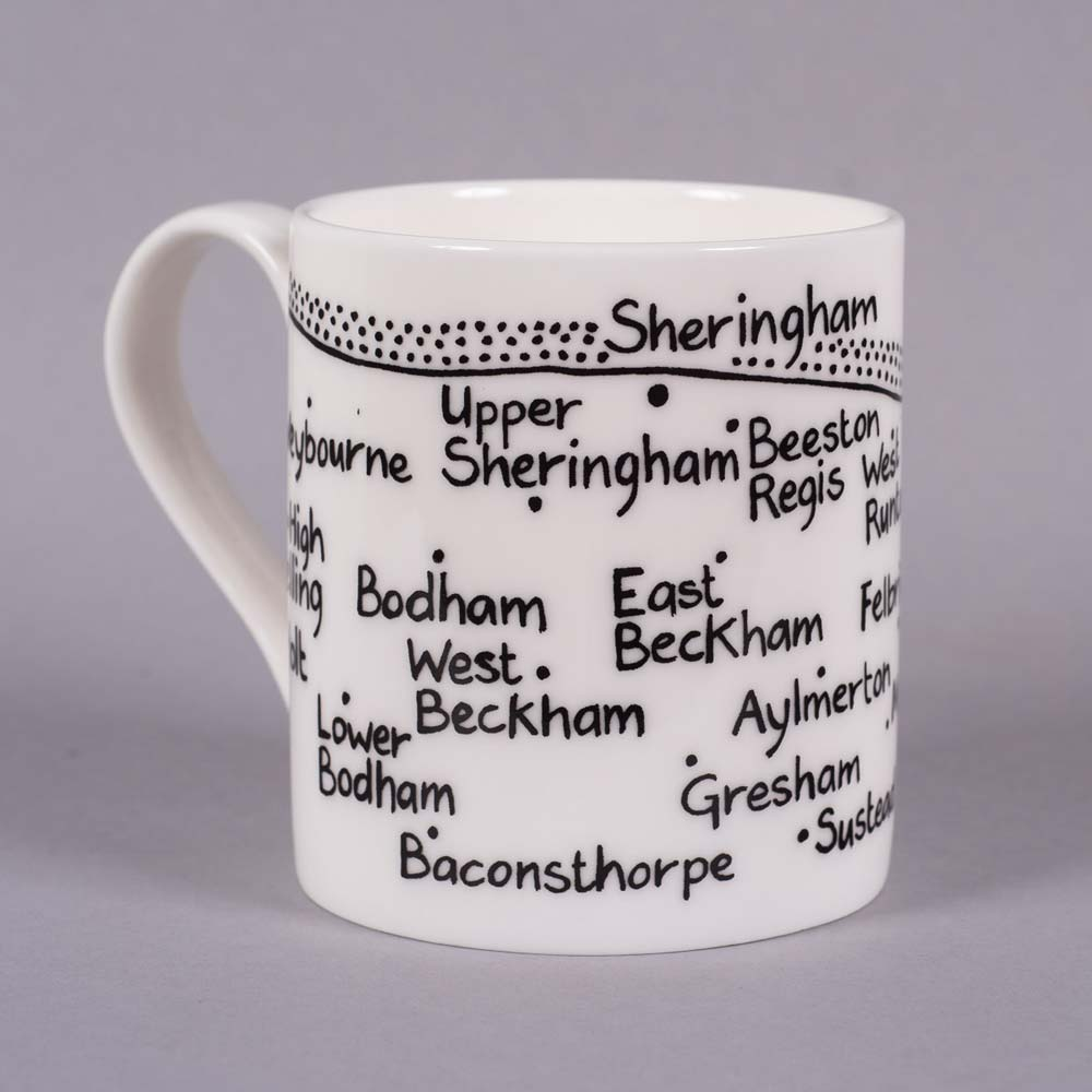 Bone china mug 'Holt to Trimingham' by Magi-C