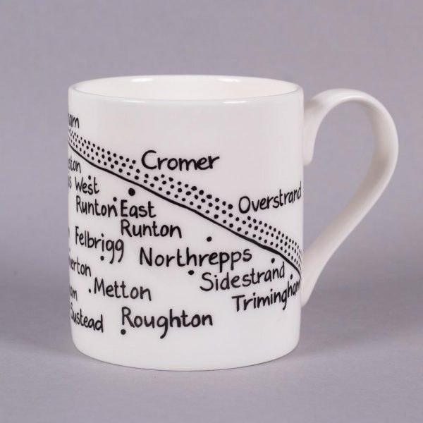Bone china mug 'Holt to Trimingham' by Magi-C, view 2