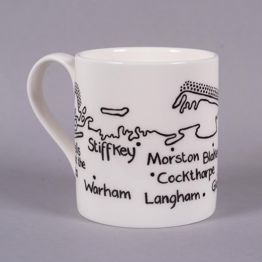 Bone china mug 'Wells-next-the-Sea to Kelling' by Magi-C