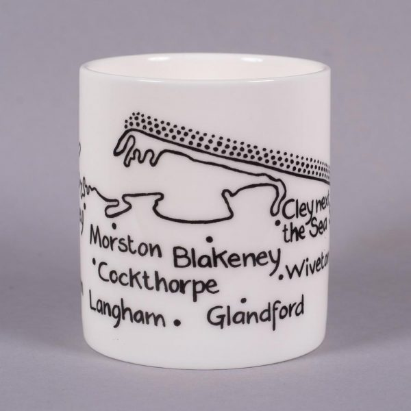 Bone china mug 'Wells-next-the-Sea to Kelling' by Magi-C, view 3