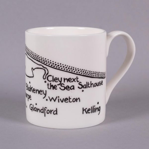 Bone china mug 'Wells-next-the-Sea to Kelling' by Magi-C, view 2