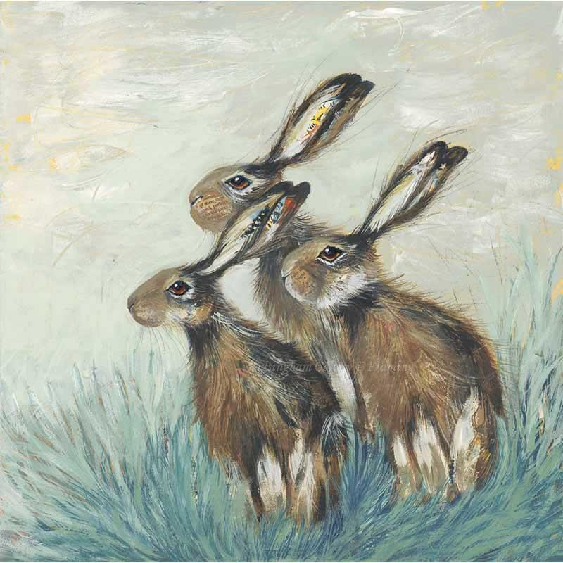 Limited edition print 'A Husk of Hares' by Nicola Hart