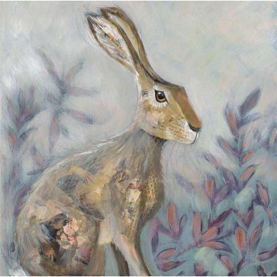 Limited edition print 'Sitting Hare' by Nicola Hart
