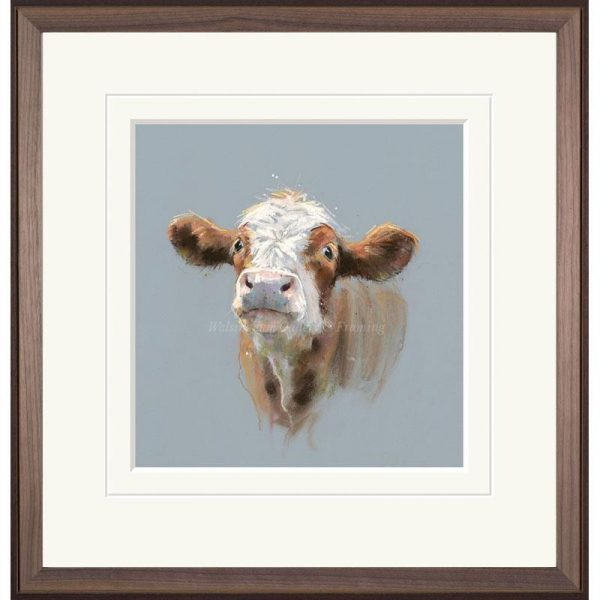 Framed limited edition print 'Clarrie' by Nicky Litchfield