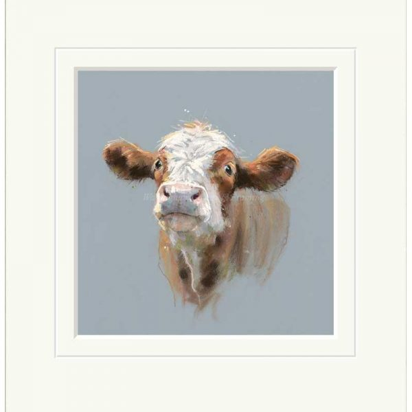 Mounted limited edition print 'Clarrie' by Nicky Litchfield