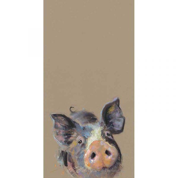 Limited edition print 'Happy Hoglet' by Nicky Litchfield