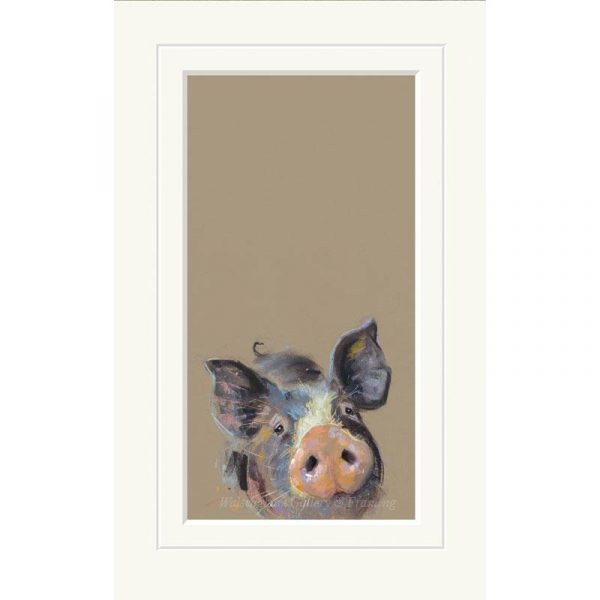 Mounted limited edition print 'Happy Hoglet' by Nicky Litchfield