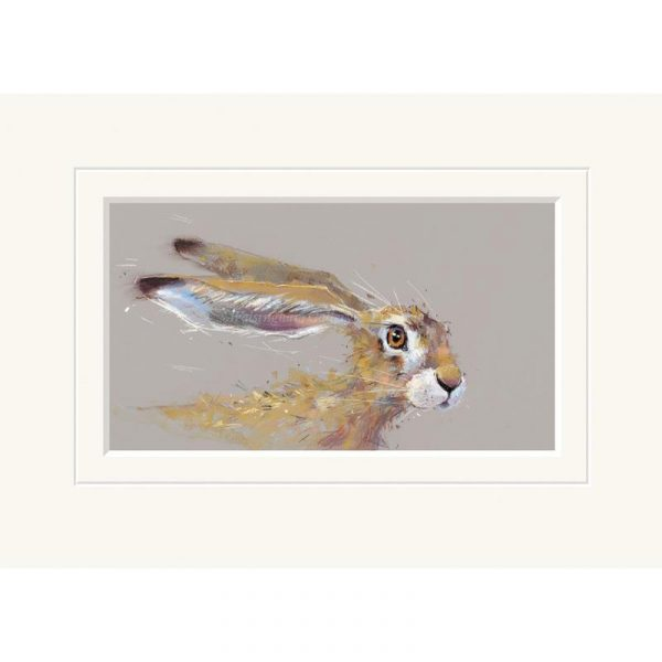 Mounted limited edition print 'Sorry Must Dash' by Nicky Litchfield