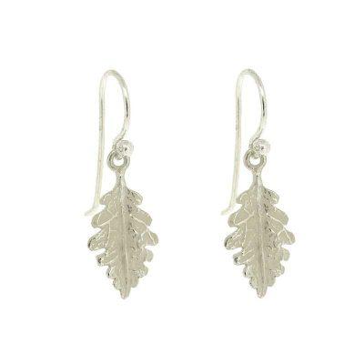 Oak leaf earrings in sterling silver