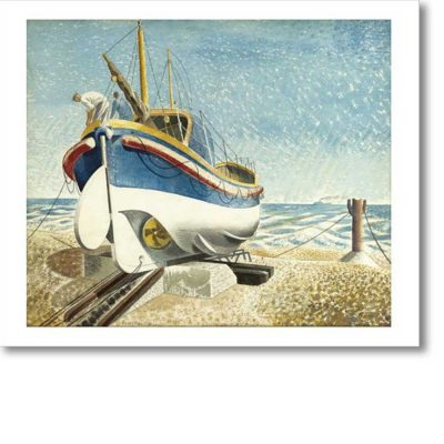Greeting card of 'Lifeboat, 1938' by Eric Ravilious